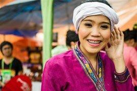 Una mujer de una tribu, minoría étnica en Chiang Mai