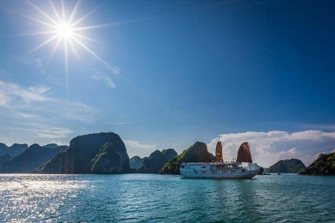 Crucero en la bahia de Halong Bay