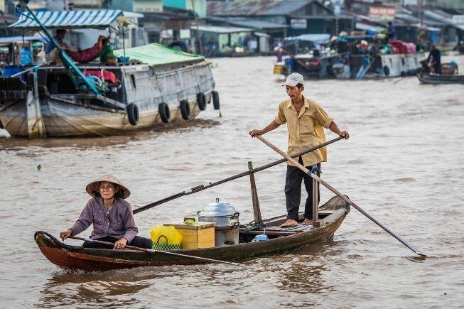 El intersante mercado flotante de Can Tho