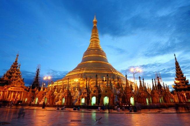 El templo dorado de Myanmar