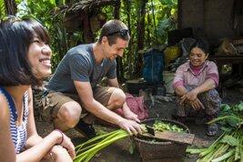Encuentro con los habitantes del pueblo Chansor en Camboya