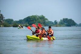 Kayak y crucero sobre el río Mékong en Laos