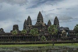 Los famosos templos de Angkor en Siem Reap, Camboya