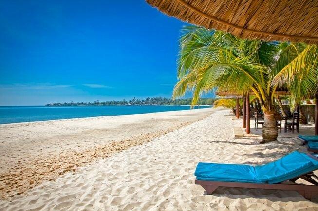 Playa del paraíso en Camboya