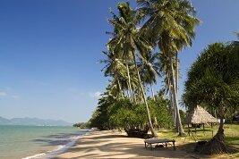Playa en la costa camboyana