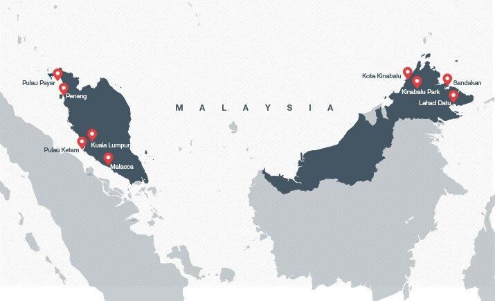 Carte de visite de la Malaisie