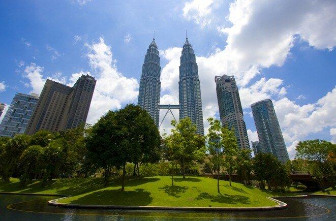 Torre gemelas, las torres Petronas en Kuala Lumpur, Malasia