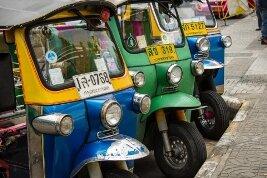 El tuk tuk, un medio de transporte habitual en las calles de Tailandia