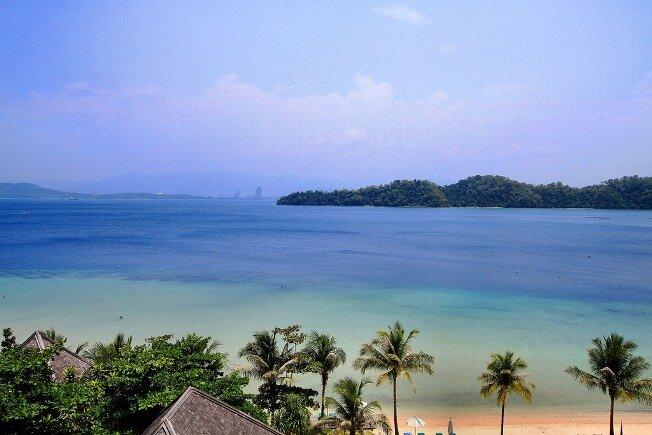 Visita de la playa Sabah, Malasia